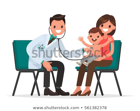 Mother With A Child Visiting To The Doctor Vector. Isolated Illustration Stock photo © pikepicture