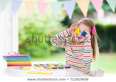 Varázsige ki otthon illusztráció gyerekek háttér Stock fotó © bluering