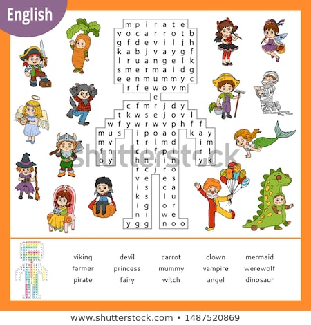 Spell English word clown Stock photo © bluering