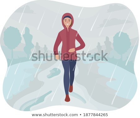 healthy fitness woman training for marathon outdoors in alleyway stock photo © boggy