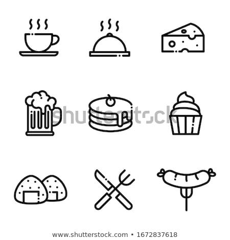 Restaurant menu - line design style icons set Stock photo © Decorwithme