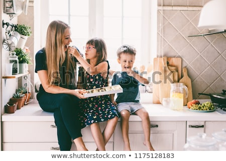 sharing sweet moments boy Stock photo © Lopolo
