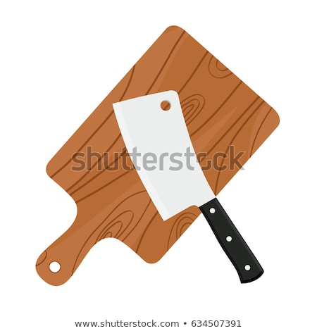 Wooden Cutting Board Vector Icon in Cartoon Style Stock photo © robuart