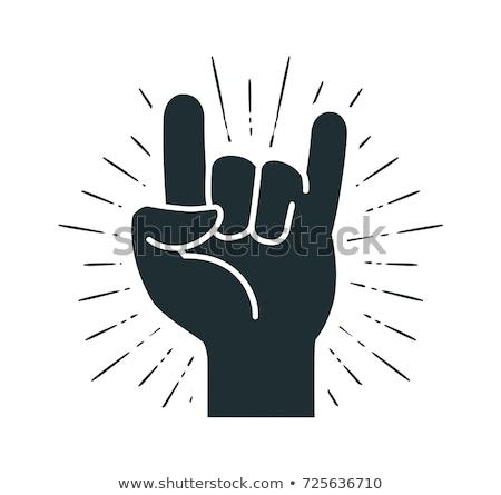 рок катиться знак жест различный Сток-фото © robuart