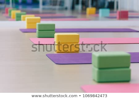 fit woman exercising with yoga belt stock photo © andreypopov
