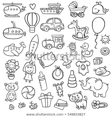 helicopter hand drawn outline doodle icon stock photo © rastudio