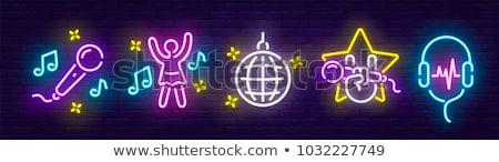 Color vintage bar emblem Stock photo © netkov1