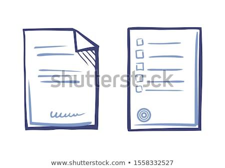Appliance Letter Sample, Line Art Icons Paper List Stock photo © robuart