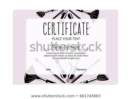 Certidão make-up escolas negócio mulher menina Foto stock © ikopylov