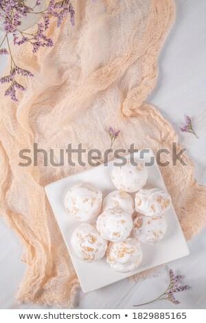 Traditional portuguese sweets beijinhos Stock photo © homydesign