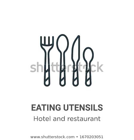 Knife vector flat icon Stock photo © smoki