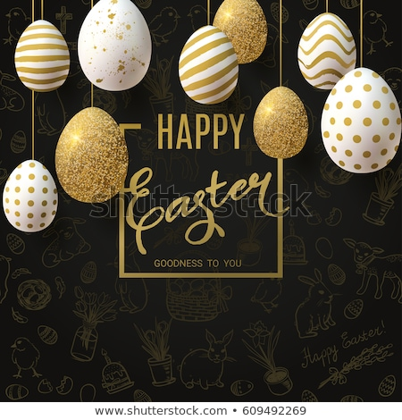 Easter card with golden egg Stock photo © Artspace