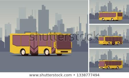 urbano · transporte · público · vetor · isométrica · ilustração · moderno - foto stock © tashatuvango