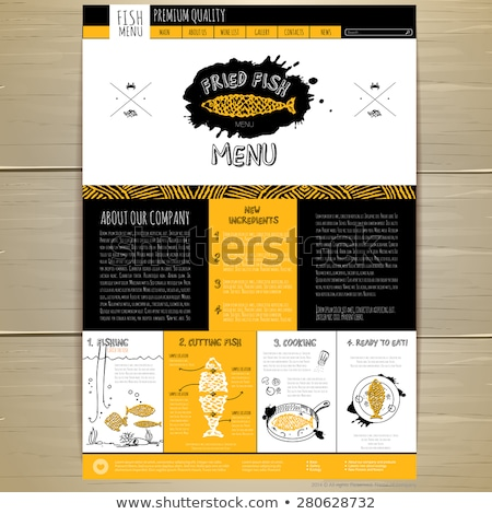 Frutti di mare menu banner minuscolo uomini d'affari Foto d'archivio © RAStudio
