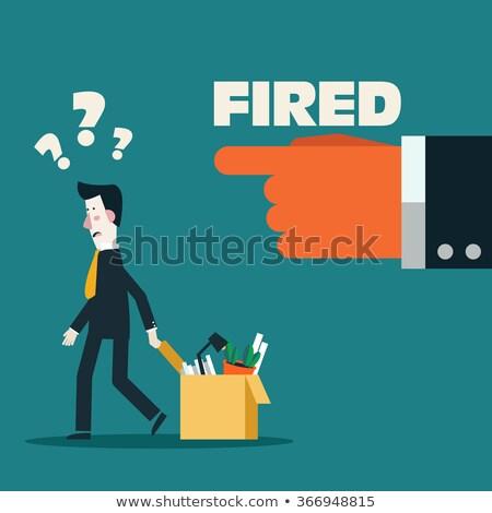 Boss Discharging Employee, Unemployed Fired Man Stock photo © robuart