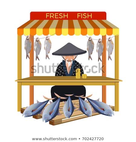 fresh tuna fish at japanese street market Stock photo © dolgachov