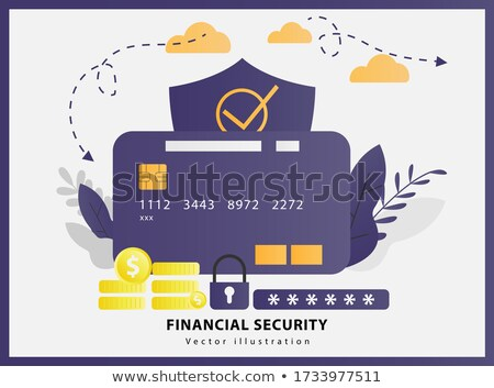 Elderly financial security concept vector illustration Stock photo © RAStudio