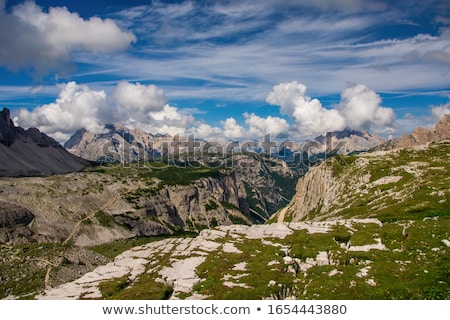 Tre Cime di Lavaredo peak at daylight Stock photo © frimufilms