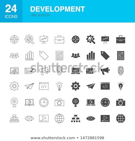 Code Line Web Glyph Icons Stock photo © Anna_leni