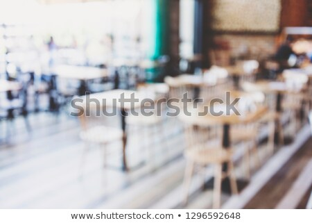 Blurred abstract coffee shop or cafe restaurant with bokeh light Stock photo © Freedomz