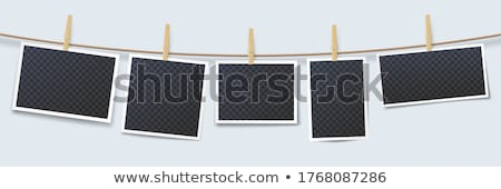 Photos hanging on a rope Stock photo © montego