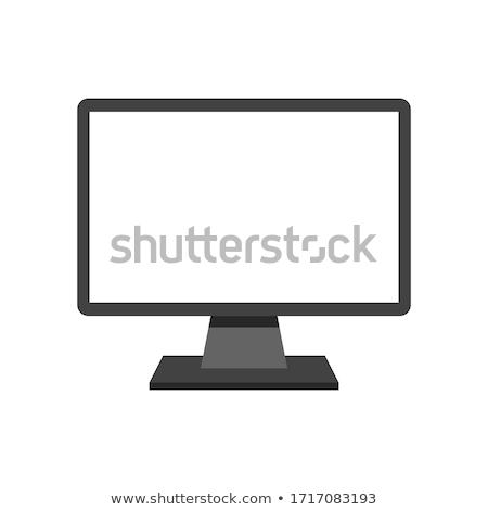 Publicidade internet monitor ícone do computador massa mídia Foto stock © robuart