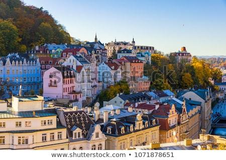 Ulicy czech piękna historyczny domów Czechy Zdjęcia stock © borisb17
