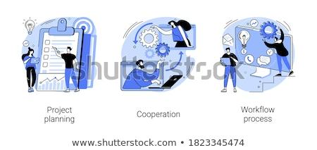 planejamento · programar · trabalhando · tarefas · otimização · vetor - foto stock © rastudio