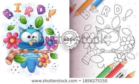 Set cute animals poster and merchandising. Stock photo © rwgusev