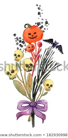 creepy halloween scarecrow at night stock photo © solarseven