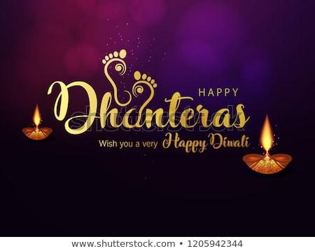 beautiful happy dhanteras festival card greeting background Stock photo © SArts