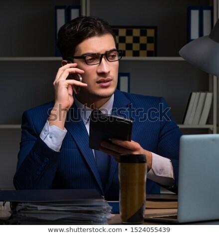 Auditor precisão financeiro calculadora negócio papel Foto stock © Elnur