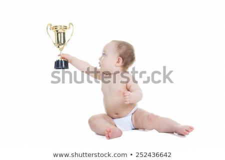 Bébé or trophée tasse blanche Photo stock © Lopolo