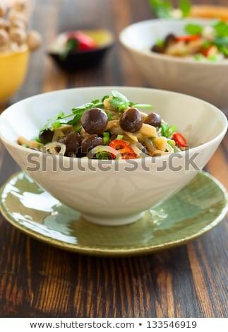 Ciotola fette petto di pollo texture alimentare Foto d'archivio © Alex9500