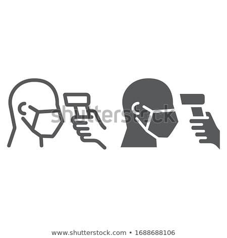 Test hőmérséklet ikon vektor skicc illusztráció Stock fotó © pikepicture