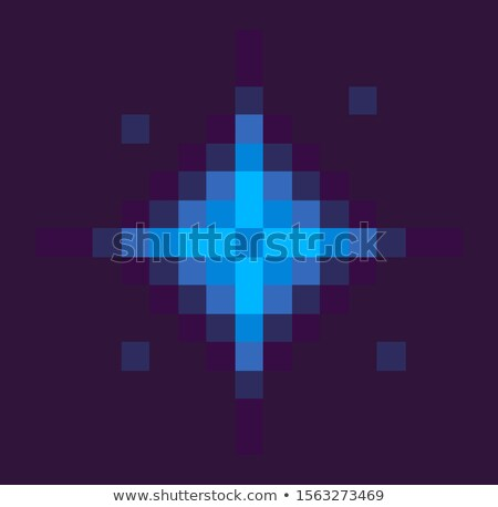 Star Space Pixel Game, Solar System Sign at Night Stock photo © robuart