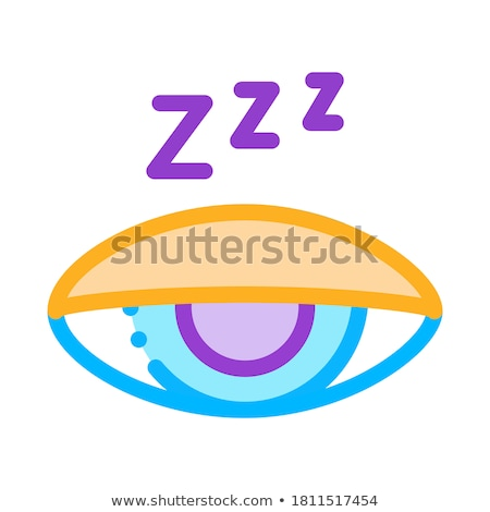 Half Closed Asleep Eye Icon Outline Illustration Stock photo © pikepicture