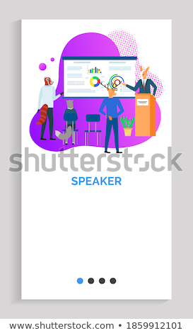 Whiteboard with Information Infochart Stats Info Stock photo © robuart