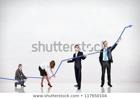 Successful Businessman and Team, People with Chart Stock photo © robuart