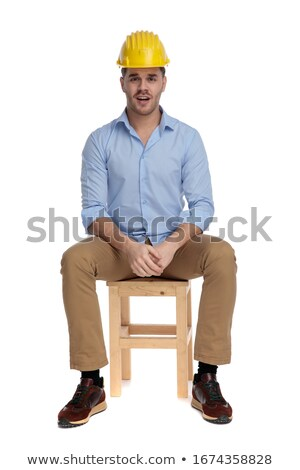 Bothered and upset shocked young handsome man, holding smartphone horizontally watch devastating new Stock photo © benzoix