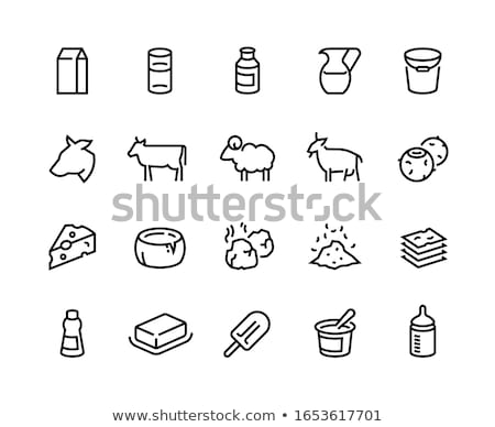 pack of butter icon vector outline illustration Stock photo © pikepicture