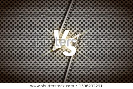 Industrielle écran modèle de conception bataille titre métallique Photo stock © evgeny89