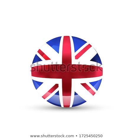 Великобритания флаг сфере белый изолированный Сток-фото © evgeny89