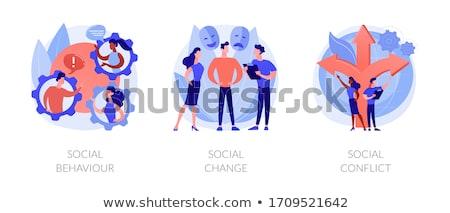 Sociedad resumen vector ilustraciones metáforas divorcio Foto stock © RAStudio