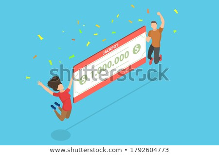 Businessman Happy to Gamble and Win Money Vector Stock photo © robuart