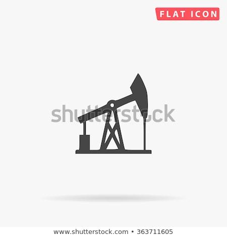 Vektör yağ pompa simge ikon sanayi Stok fotoğraf © nickylarson974