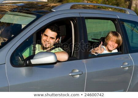 family car hire or rental on vacation Stock photo © godfer
