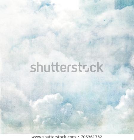 Сток-фото: Abstract Genesis Clouds Painting