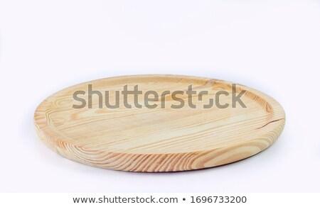 ピザ · 木製 · プレート · 食品 · レストラン · チーズ - ストックフォト © njaj