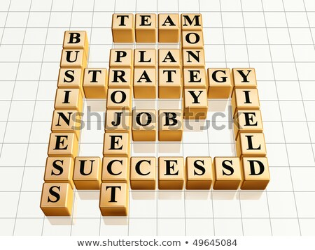 Stock photo: golden creative project like crossword